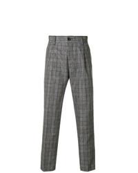 Pantalon de costume écossais gris Pt01