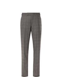 Pantalon de costume écossais gris Tom Ford