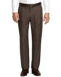 Pantalon de costume écossais marron