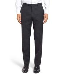Pantalon de costume écossais noir