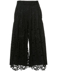 Pantalon de costume en dentelle noir Sacai