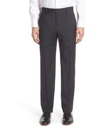 Pantalon de costume en laine à carreaux gris foncé