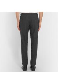 Pantalon de costume en laine à carreaux gris foncé Hugo Boss