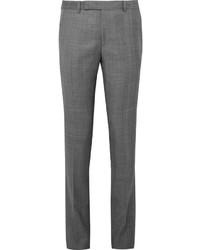 Pantalon de costume en laine à carreaux gris Paul Smith