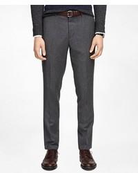 Pantalon de costume en laine à chevrons gris foncé Brooks Brothers