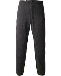 Pantalon de costume en laine à chevrons gris foncé Engineered Garments