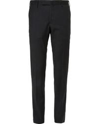 Pantalon de costume en laine à chevrons gris foncé Incotex