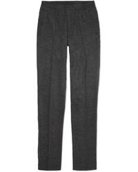 Pantalon de costume en laine à chevrons gris foncé Lanvin