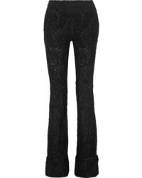 Pantalon de costume en laine à fleurs noir Stella McCartney