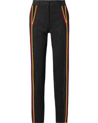 Pantalon de costume en laine à rayures verticales noir Calvin Klein 205W39nyc