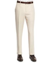 Pantalon de costume en laine beige