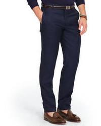 Pantalon de costume en laine bleu marine