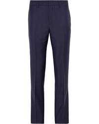 Pantalon de costume en laine bleu marine Acne Studios