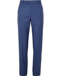 Pantalon de costume en laine bleu marine Alexander McQueen