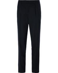 Pantalon de costume en laine bleu marine Balmain