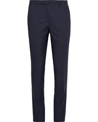 Pantalon de costume en laine bleu marine Boglioli
