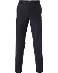 Pantalon de costume en laine bleu marine Brunello Cucinelli