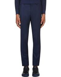 Pantalon de costume en laine bleu marine Calvin Klein