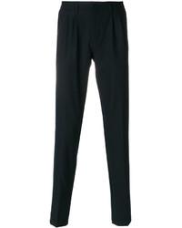 Pantalon de costume en laine bleu marine Eleventy