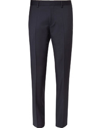 Pantalon de costume en laine bleu marine Hugo Boss