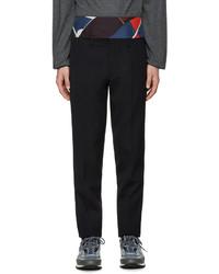 Pantalon de costume en laine bleu marine Kolor