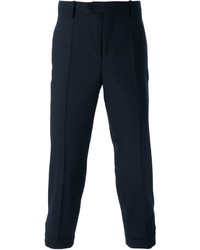 Pantalon de costume en laine bleu marine Neil Barrett
