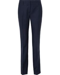 Pantalon de costume en laine bleu marine Prada