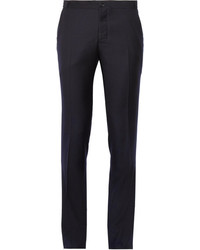 Pantalon de costume en laine bleu marine Thom Browne