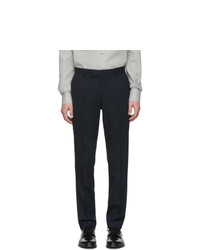 Pantalon de costume en laine bleu marine Tiger of Sweden