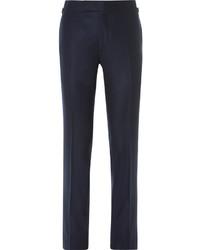 Pantalon de costume en laine bleu marine Tom Ford