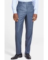 Pantalon de costume en laine bleu