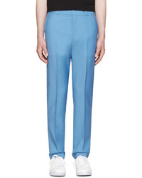 Pantalon de costume en laine bleu Acne Studios