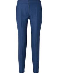 Pantalon de costume en laine bleu Stella McCartney