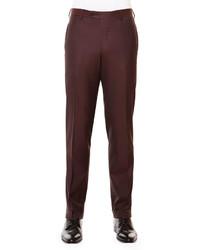 Pantalon de costume en laine bordeaux