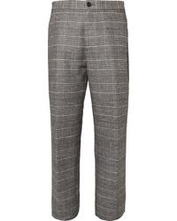 Pantalon de costume en laine écossais gris