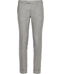 Pantalon de costume en laine écossais gris Gant