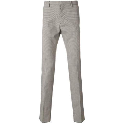 Pantalon de costume en laine en pied-de-poule gris DSQUARED2