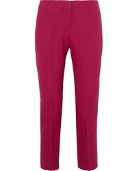 Pantalon de costume en laine fuchsia Alexander McQueen
