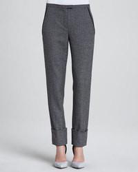 Pantalon de costume en laine gris foncé