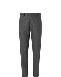 Pantalon de costume en laine gris foncé Boglioli
