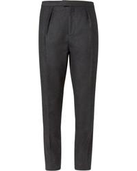 Pantalon de costume en laine gris foncé Burberry