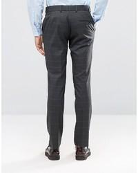 Pantalon de costume en laine gris foncé Ben Sherman