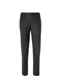 Pantalon de costume en laine gris foncé Canali