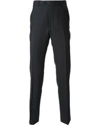 Pantalon de costume en laine gris foncé Corneliani