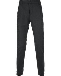 Pantalon de costume en laine gris foncé Dondup