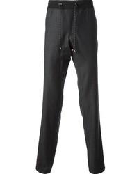 Pantalon de costume en laine gris foncé Emporio Armani