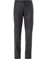 Pantalon de costume en laine gris foncé Façonnable