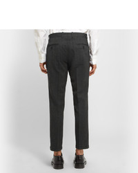 Pantalon de costume en laine gris foncé Marni