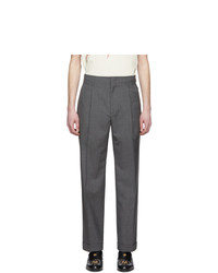 Pantalon de costume en laine gris foncé Gucci