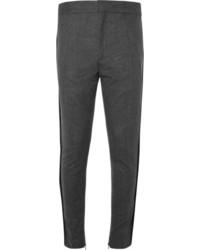 Pantalon de costume en laine gris foncé Haider Ackermann
